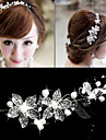 Women\'s Pearl Rhinestone Wedding Bridal Tiara Headpieces