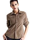 Clothin Women Long Sleeve Sportswear T Shirt Jaunt Camping Apparel Khaki