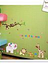 apa tiger lejon elefant zoo vägg klistermärke för barnrum zooyoo9052 dekorativa flyttbar pvc väggdekal