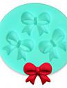 bakeware silikon båge bakformar för fondant godis chokladkaka (slumpvis färg)