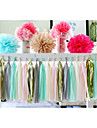 15 Inch (38cm)Tissue Tassel Garlands Paper Garland banners DIY for Wedding Party Decoration(Set of 5)