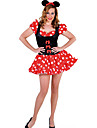 Charming Minnie Mouse Red Dot Polyester Women\'s Halloween Costume