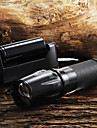 Nyckelringsficklampor LED 5 Läge 2200 Lumen Justerbar fokus / Greppvänlig Cree XM-L T6 18650 / AAA / 26650Camping/Vandring/Grottkrypning
