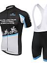 Maillot et Cuissard a Bretelles de Cyclisme Femme Manches courtes Velo Respirable Vestimentaire La peau 3 densites Poche arriereCuissard