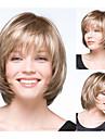 kvinnors bobo frisyrer blond raka syntetiska peruker