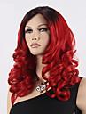 populär färg rött hår peruker hår våg syntetiska peruker