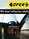 rundong® bil dekoration dörr säkerhet reflekterande öppna varnings klistermärken (färgval)