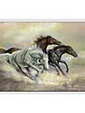 Peint a la main Animal Horizontale,Moderne Style europeen Un Panneau Toile Peinture a l\'huile Hang-peint For Decoration d\'interieur