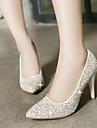 Pantofi pentru femei - Luciu - Toc Stiletto - Tocuri / Vârf Ascuțit - Pantofi cu Toc - Rochie - Roșu / Alb / Auriu
