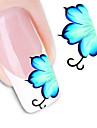 Blomma/Abstrakt - Finger/Tå - 3D Nagelstickers - av Andra - 1 - styck 10.5X7X0.1 - cm