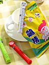 söta plast tätning mat bag klipp med datum och känslor (slumpvis färg)