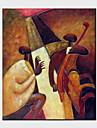 oljemålningar en panel moderna abstrakta människor handmålade duk redo att hänga