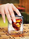 Cool Transparent Creative Scary Skull Head Design Novelty Drinkware Wine Shot Glass Cup 75ML