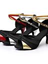 Latin/Pantofi de Dans - Pantofi de dans (Roșu/Argintiu/Auriu) - Personalizat - Pentru femei