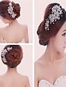 Serre-tete/Epingle a Cheveux/Peigne/Fleurs/Chaine pour Cheveux Casque Mariage/Outdoor/Occasion speciale Alliage/Perle/Cristal Femme