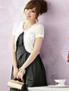 Hochzeitsverpackungen Kurzarm Chiffon / Polyester elegant Boleros schwarz / weiss / rosa Bolero