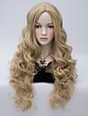 soignee Bang cheveux synthetiques de haute qualite perruques synthetiques ondes longues Femmes perruque