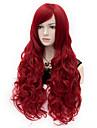sexiga kvinnor Anastasia långvågig peruk röd