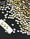 50PCS Golden & Silver Mixed Rivet Nail Art Dekorationer