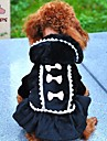Cat / Dog Coat / Hoodie / Dress Black / Pink Winter Bowknot Wedding / Cosplay