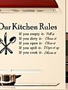 cuisine stickers muraux murale de style de decalcomanies regles mots anglais&cite muraux PVC autocollants