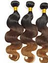 """3pcs lot 12 """"-24"""" ombre peruvien deux t1b / 4/30 cheveux de vague de corps de couleur de tonalite tisse / faisceaux"""
