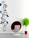 vägg klistermärken väggdekaler stil fjäril blomma rotting pvc väggdekorationer