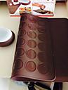 macarons decaoration set silikon bakning bakverk mandelbiskvier ark matta med dekorera penna set