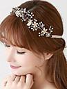 Femei Cristal Aliaj Imitație de Perle Diadema-Nuntă Ocazie specială Exterior Cordeluțe 1 Bucată