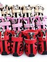 Katter Hundar Skor och stövlar Ledigt/vardag Vinter Vår/Höst Färgblock Röd Rosa Guld PU Läder