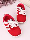Svart Blå RödPojkar Flickor-Komfort-Tyll Textil-Utomhus Fritid-Sneakers