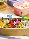 Animal Shaped Food Picks Snack Party Forks 10-Piece Pack (Random Color)