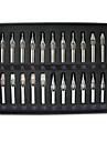 22pcs ensemble professionnel de tatouage pointes en acier inoxydable tatouage reguliere Buses 22 tailles approvisionnement de tatouage