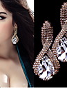 Fashion Intersect  Water-drop Shape  Diamante Rhinestone Drop Earrings