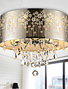 Flush Mount Light Crystal Chrome Color Hollow Carving Fashion Moderne