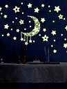 självlysande väggdekorationer väggdekaler stil stjärnan månen pvc vägg klistermärken