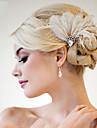 handgjorda bröllops fjäder hår fascinator stycken Fascinators 007
