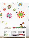 vägg dekaler vägg dekaler stil färgade blommor pvc väggdekorationer