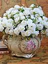 Une succursale Polyester Roses Fleur de Table Fleurs artificielles 76.2(30\'\')