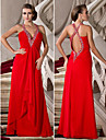 TS Couture® Prom / Formal Evening / Military Ball Dress - Beautiful Back Plus Size / Petite A-line / Princess V-neck / Straps Floor-length Chiffon