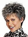 courts perruques de cheveux synthetiques droites gris mix look naturel