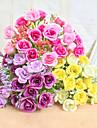 1 Une succursale Polyester / Plastique Roses Fleur de Table Fleurs artificielles 25cm