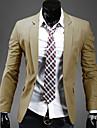 Lång ärm - Kostymer & Blazers ( Akryl/Organiskt Bomull/Konstsilke )till MÄN Skjortkrage/V-ringad - Casual