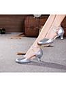 Chaussures de danse (Rouge/Argent/Autre) - Non personnalisable - Talon Large - Cuir verni/Synthetic - Moderne