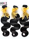 """4 st mycket 8 """"-30"""" malaysiska obearbetat jungfruligt remy hår vågigt naturligt svart människohår väva vågiga buntar härva gratis"""