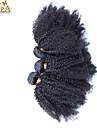 """3st / lot 10 """"-30"""" cara mongoliska jungfru hårfärg naturligt svart afro kinky lockigt människohår väft obearbetade"""