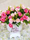 Gren Polyester Plast Roser Bordsblomma Konstgjorda blommor 7.62(3\'\')