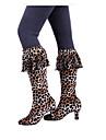 Chaussures de danse(Noir Leopard) -Non Personnalisables-Talon Bas-Cuir Velours-Moderne