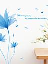 Botanique Paysage Stickers muraux Stickers avion Stickers muraux decoratifs,Vinyle Materiel Repositionable Decoration d\'interieurCalque