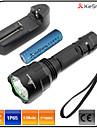 Belysning LED-Ficklampor LED 1600 lumens Lumen 5 Läge Cree XM-L T6 18650 Vattentät / Laddningsbar / Stöttålig / självförsvar